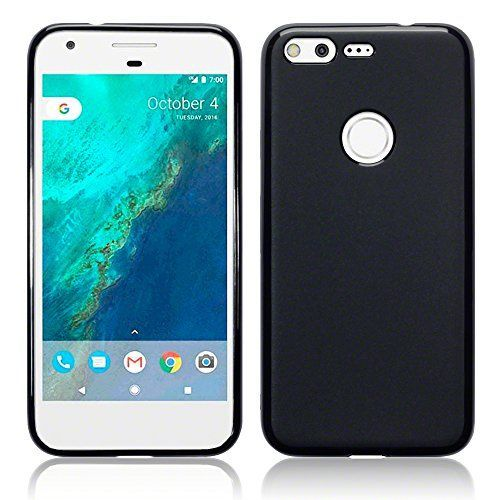 Google Pixel Funda Protectiva de Silicona Gel TPU estrecha - Negro oscuro acabado mate
