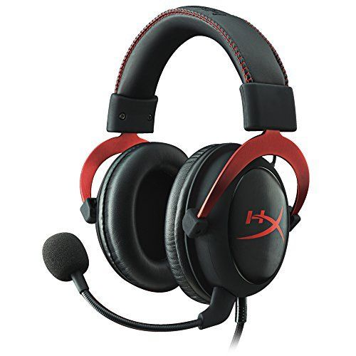 HyperX Cloud II - Auriculares gaming de diadema cerrados con micrófono (para PC/PS4/Mac), color rojo