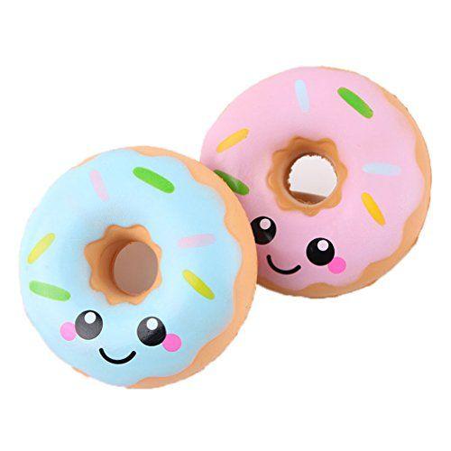 Kfnire 1pz aleatorio donuts kawaii squishy juguete juguete de alivio de tensión de levantamiento lento para niños adultos