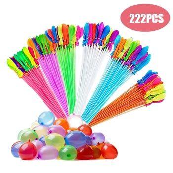 Pack de 222 globos de agua de colores