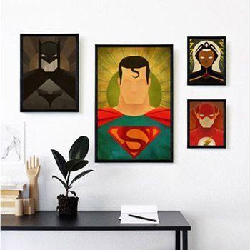 Pósteres de superhéroes desde 3,13€ en AliExpress