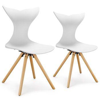 2 juego de sillas con patas de madera