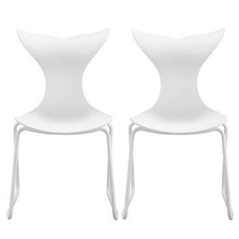 2 juego de sillas con patas de metal