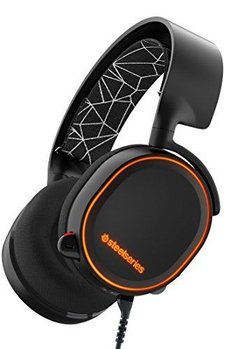 SteelSeries Arctis 5- Auriculares para juego, Iluminación RGB, DTS 7.1 Surround para PC, PC, Mac,PlayStation 4 ,Xbox One,Android,iOS,VR, color Negro