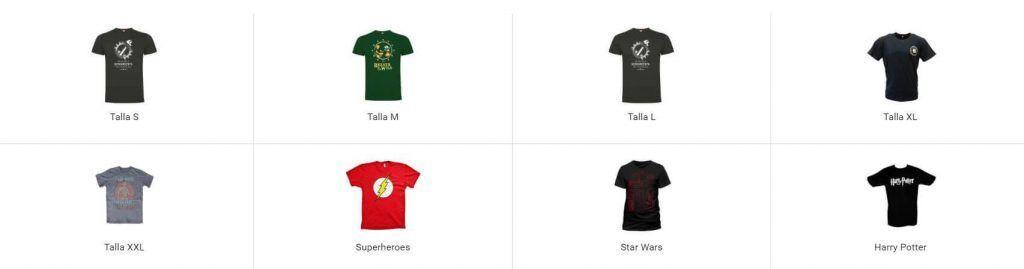 ofertas camisetas merchandising