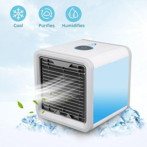 Aire Acondicionado Móvil para Escritorio / Hogar / Oficina ,3-en-1 Ventilador más frío,Humidificador & Purificador de Aire Personal USB Climatizador Portátil