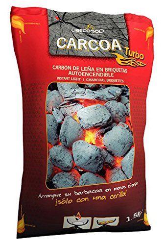 Carcoa Turbo 00973 - Briquetas autoencendibles, 1.5 kg, color negro