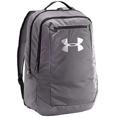 Under Armour UA Hustle Backpack LDWR Mochila, Hombre, Gris (Graphite)