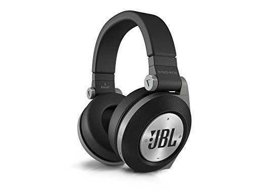 JBL E50 BT - Auriculares supraaurales inalámbricos para dispositivos iOS y Android (estéreo, Bluetooth, almohadillados recargables, función PureBass), color negro
