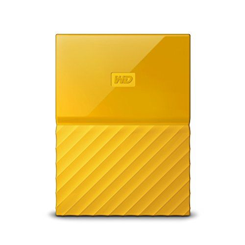 WD My Passport 2TB - Disco Duro Portátil y Software de Copia de Seguridad automática para PC, Xbox One y Playstation 4 - Amarillo