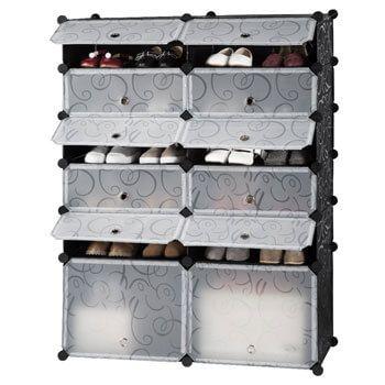 Zapatero modular Langria de 12 cubos