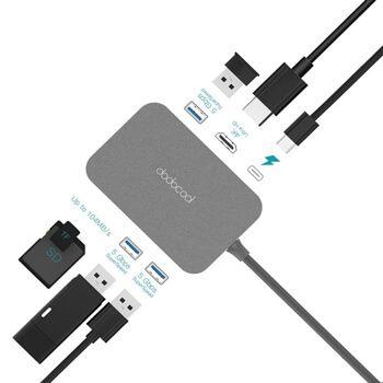 Hub USB Tipo C Dodocool 7 puertos en 1