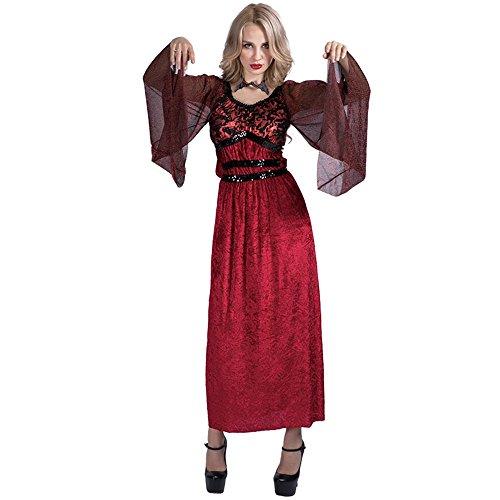 Decdeal Disfraz de Dama Vampiro,Disfraz de Vampiro Fiesta Cosplay Atrezzo para la Ropa-M Tamaño
