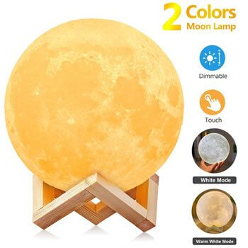 Cupón para lámpara con forma de luna