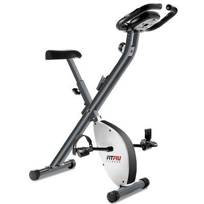 Bicicleta estatica plegable con freno magnetico regulable y pulsometro -FITFIU