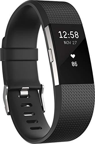Fitbit Charge 2 - Pulsera de Actividad Física y Ritmo Cardiaco, Unisex, Talla S, Color Negro