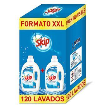 Pack de 2 detergentes líquido Skip Active Clean para 120 lavados por 13,79€ en Amazon