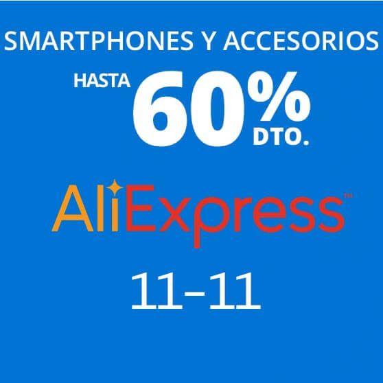 ¡TOP ofertas smartphones y accesorios 11-11 en AliExpress!