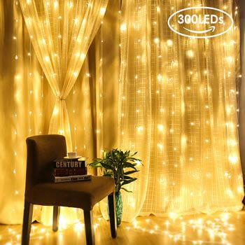 Cortina de luces LED AGM por 9,99€ en Amazon