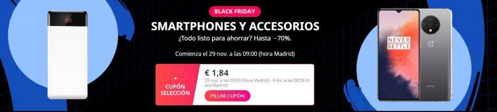 smartphones black friday aliexpress 2019 ofertas descuentos cupones