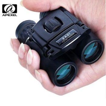 Mini prismáticos Apexel (8x21) ¡Lente profesional por menos de 10€!