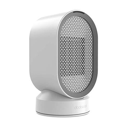 dodocool Mini Calefactor Eléctrico, Portatil Calefactor Ventilador ceramico, Calefactor Aire Frio y Caliente Oscilación Automática, Conveniente para el Dormitorio, la Sala de Estar y la Oficina
