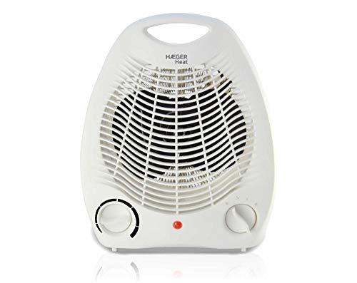 HAEGER Heat - Calefactor 2000W, Blanco, Termostato Regulable