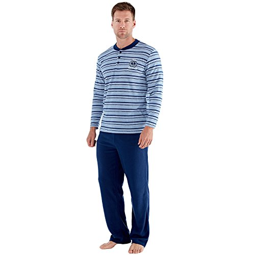 Harvey James - Pijama - para Hombre Azul Azul (Stripe) X-Large