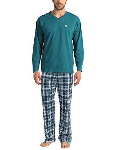 Lower East Le240 Pijama, (Grün/Blau/türkis), Large