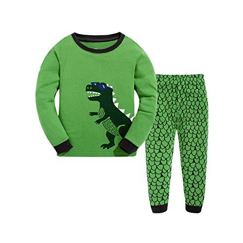 Qtake Fashion - Pijama Dos Piezas - para Niño Dinosaurio 1-2 Años