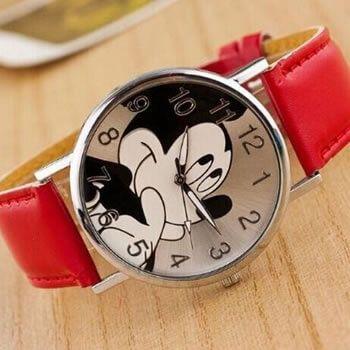 reloj mickey correa roja chollo barato aliexpress