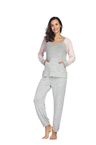 SCM Pijama - para Mujer Gris S