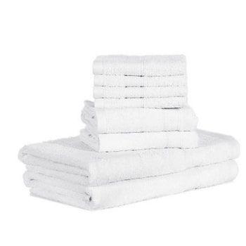 Juego de 8 toallas de algodón Htovila en Amazon
