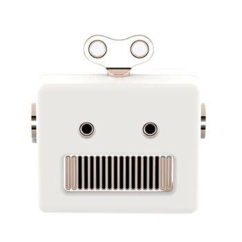 Altavoz retro Bluetooth con forma de robot por 12,49€