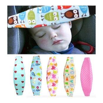 Banda sujeta cabezas para bebés en el coche