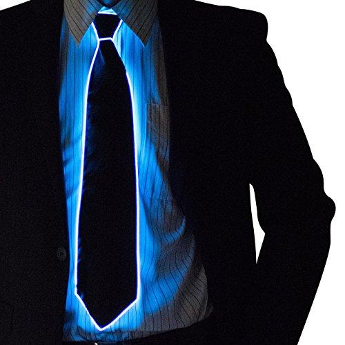 Corbata con luces de neón