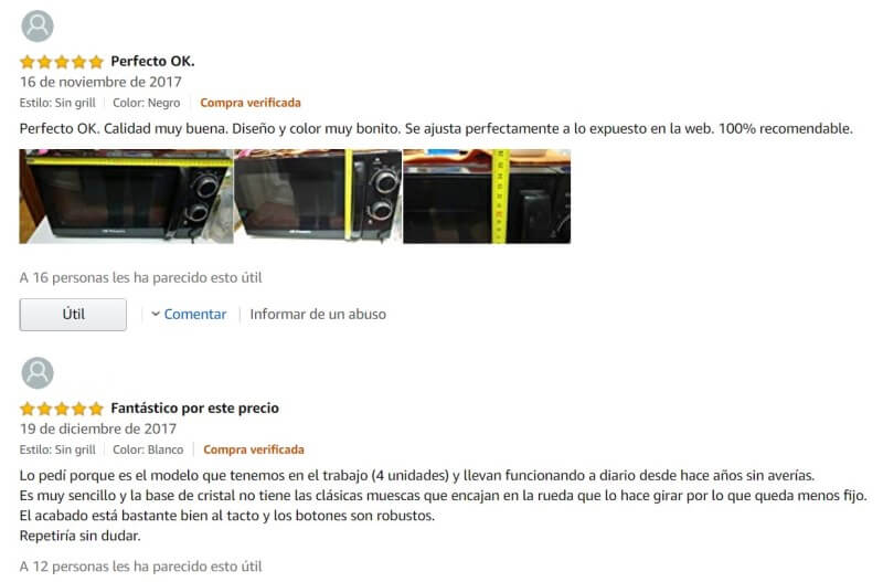 Opiniones Orbegozo Amazon