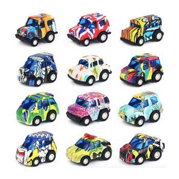 Colección de 12 vehículos fundidos a troquel