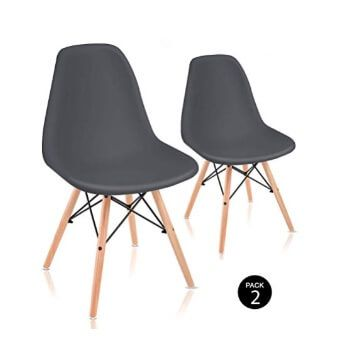 Pack de 2 sillas McHaus de estilo nórdico