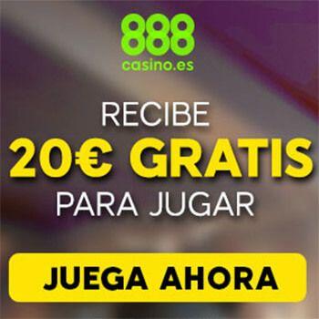 ¡20€ GRATIS para jugar en 888Casino! ¡Sin depósito!