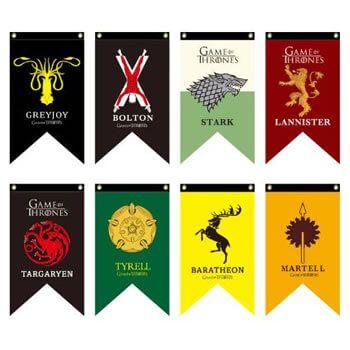 Banderas de Juego de Tronos en Aliexpress