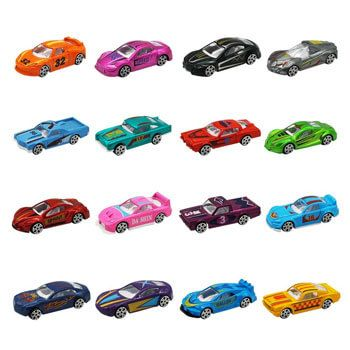 Pack de 16 coches de juguete Nuheby