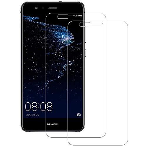 Cristal Templado Huawei P10 Lite, 2-Unidades Protector de Pantalla Huawei P10 Lite, POOPHUNS Cristal Vidrio Templado Premium para Huawei P10 Lite [3D Touch Compatible] [9H Dureza]0.3mm