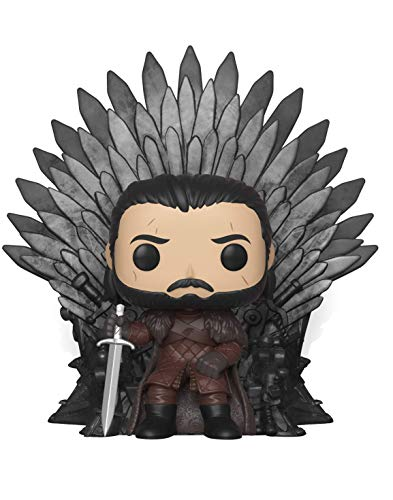 Funko Pop Deluxe: Game of S10: Jon Snow Sitting on Iron Throne Figura Coleccionable 37791