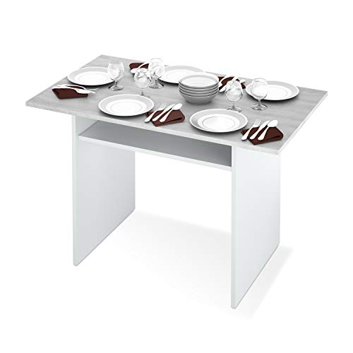 Habitdesign 0L4587A - Mesa Consola desplegable, Mesa de Cocina Extensible Apertura Tipo Libro, Medidas Mesa Cerrada: 77 x 120 x 35 cm de Fondo