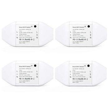 Pack de 4 interruptores universales Wifi Meross con cupón DESCUENTO
