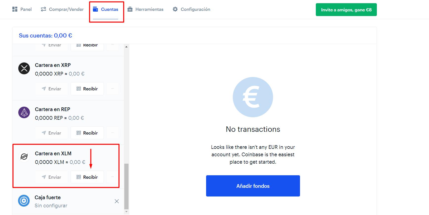 XLM Stellar Coinbase dinero gratis