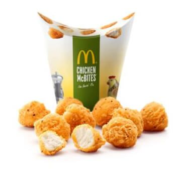 20 Chicken McBites por 1,5€ en McDonalds