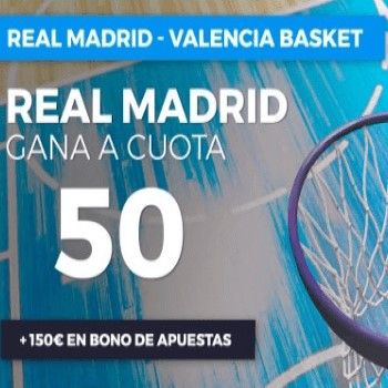 Megacuota Liga ACB: Real Madrid gana a cuota 50