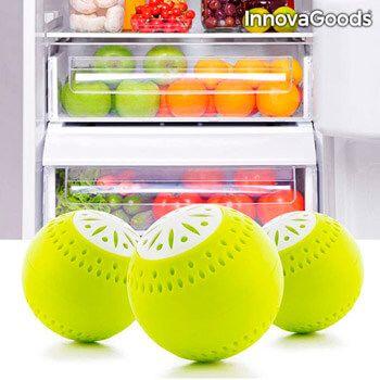 Pack de 3 ambientadores Ecobolas para frigorífico InnovaGoods por solo 3,22€ en Amazon